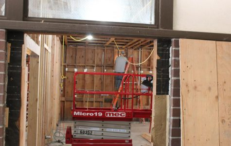Construction on the culinary room