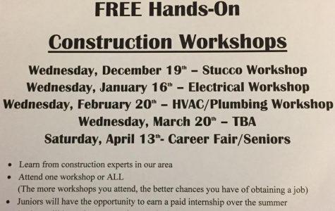 Construction workshop opportunities for Oakmont students