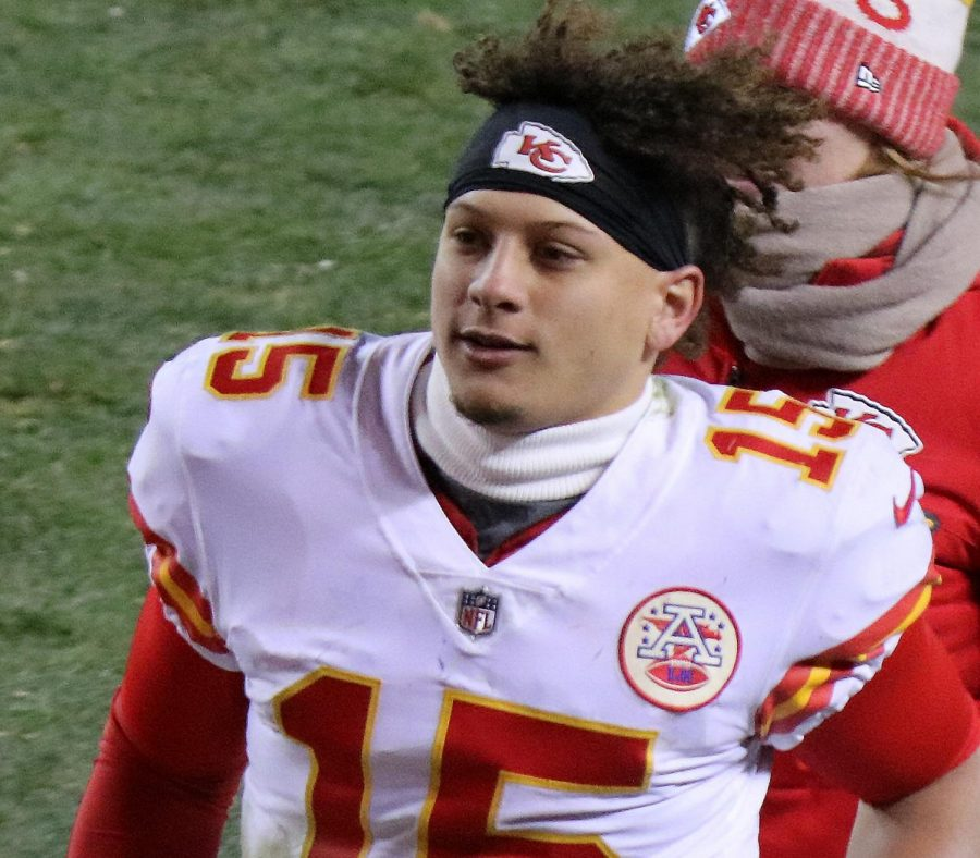 Starting+AFC+Pro+Bowl+quarterback+Patrick+Mahomes+in+2017+%28photo+by+Jeffrey+Beall%29