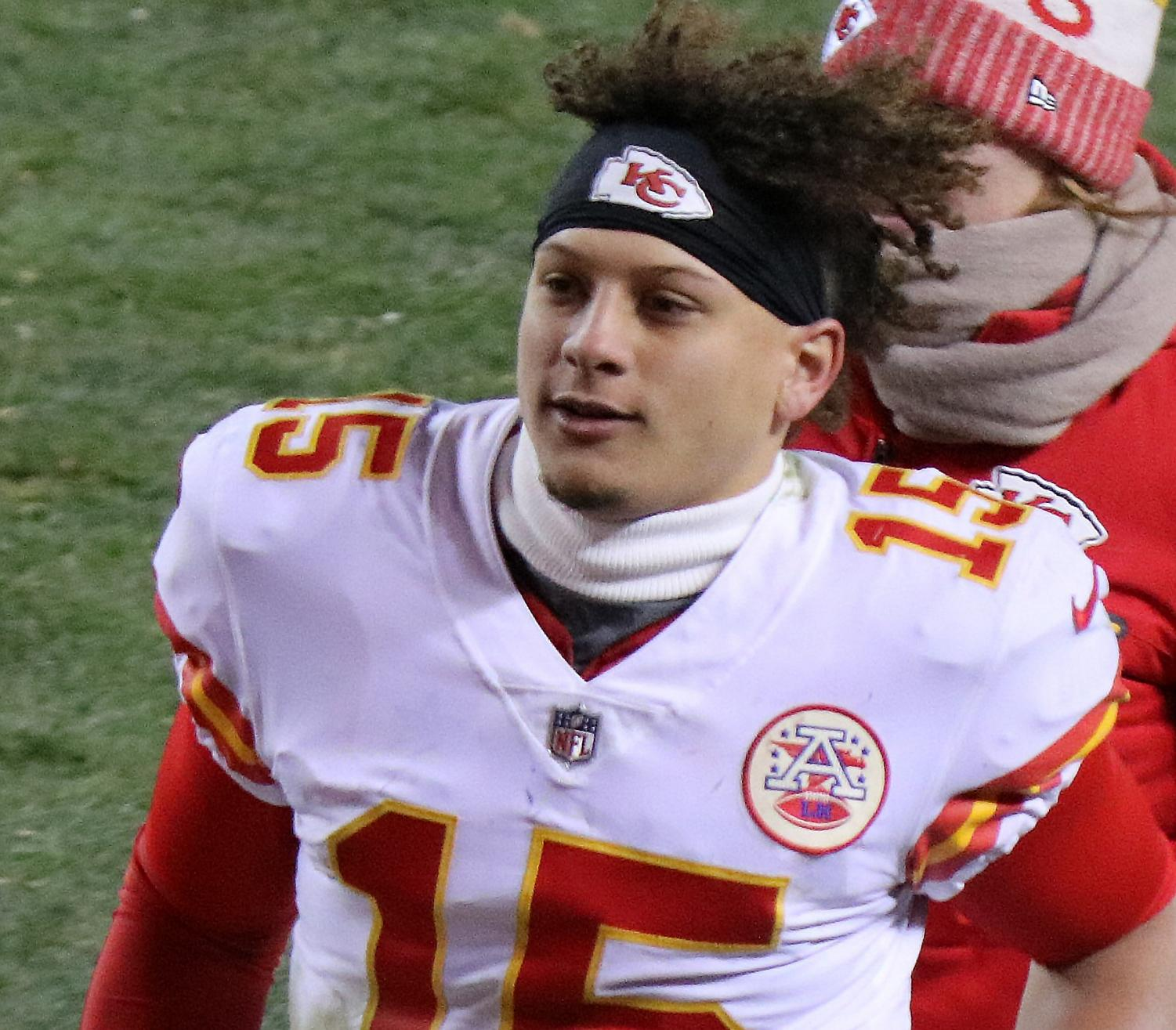 Starting AFC Pro Bowl quarterback Patrick Mahomes in 2017 (photo by Jeffrey Beall)