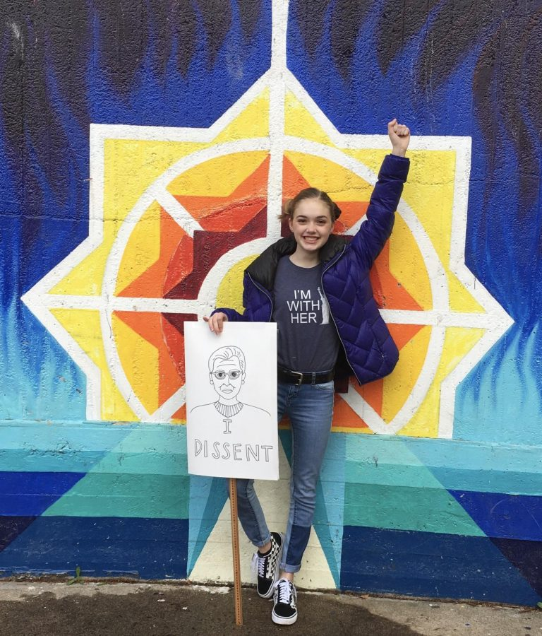 Sophomore Sophia Leddy is always involved in activist activities so that she can help change the world in the ways she sees fit.