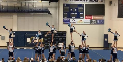 The Oakmont show cheer team performed at Oakridge High School.