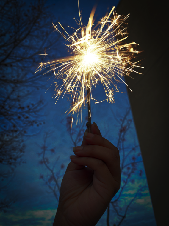 Senior Cynthia Hernandez lights a sparkler to welcome and celebrate the new year of 2020 and to reminisce on 2019.