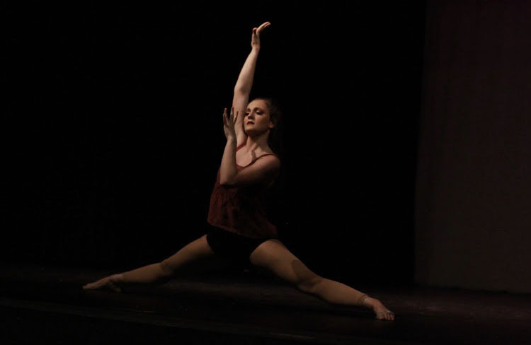 Senior+dancer+and+student+director+Arianna+Roth+pictured+during+her+self-choreographed+solo.