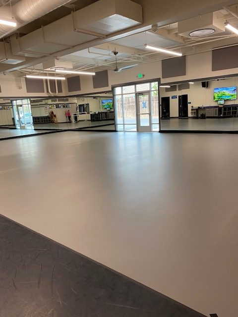 The new dance room has been completed and Mrs. Bettencourt is now able to teach from the classroom.