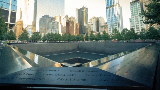 The National 9/11 Memorial stands where the North and South Tower of the World Trade Center stood before the terrorist attacks on September 11, 2001. It displays the names of all 2,977 people killed at the World Trade Center site, the Pentagon, and near Shanksville, Pennsylvania, as well as the six victims in the World Trade Bombing that occurred on February 26, 1993.