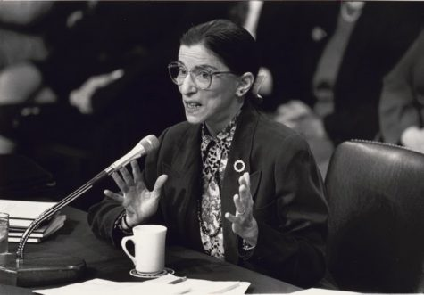 Ruth B. Ginsburg speaking at Senate Confirmation hearing for her appointment to the Supreme Court.