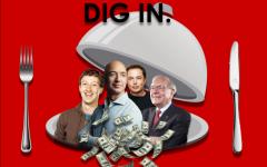 Four of the richest people on Earth: Jeff Bezos, $184.9 B; Mark Zuckerberg, $101 B; Elon Musk, $93.2 B; Warren Buffet, $83.3 B.