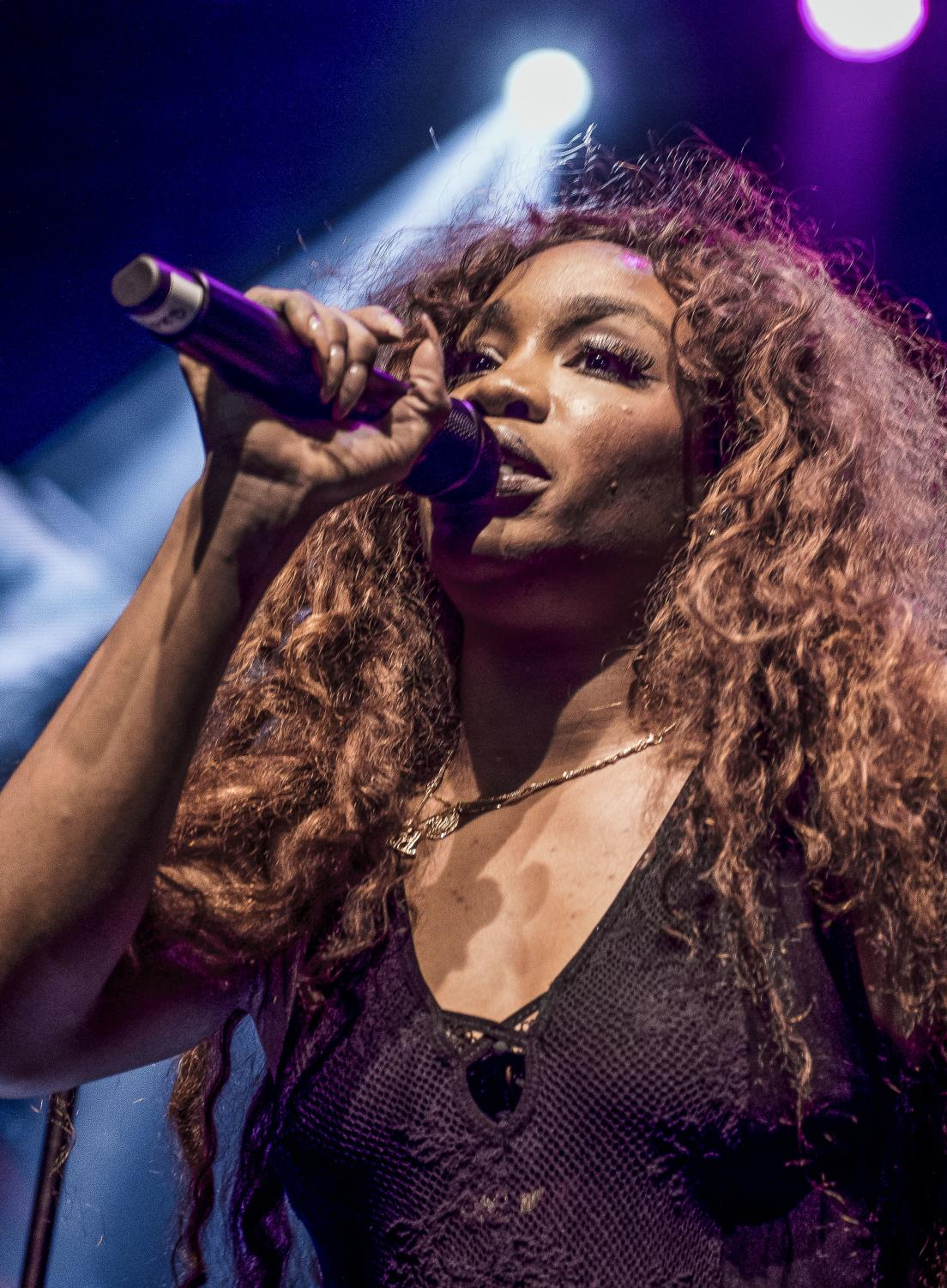 SZA performing during her CTRL tour at REBEL in Toronto on August 23, 2017.