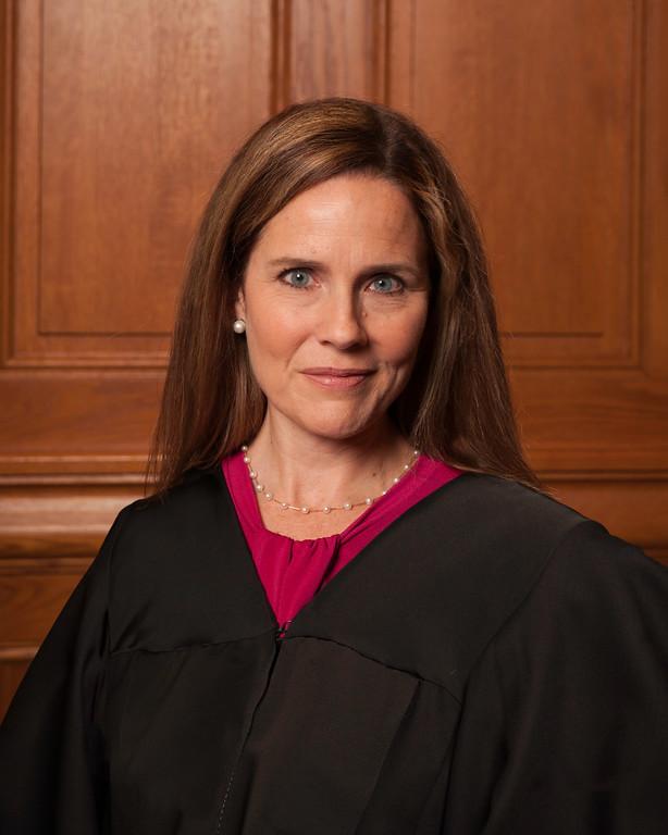 Potential future Supreme Court Justice Amy Coney Barrett pictured in 2018.