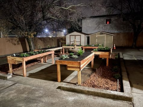 The complete sensory garden at Aim Higher Adult Development Center in Roseville, California.
