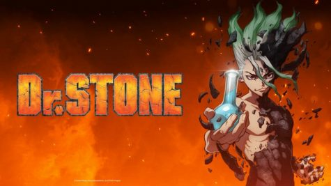"A poster to promote the famous anime ""Dr. Stone."""