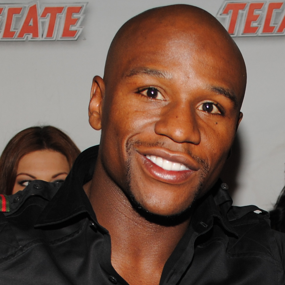 Boxer Floyd Mayweather pictured at a Dewalt event in 2011.