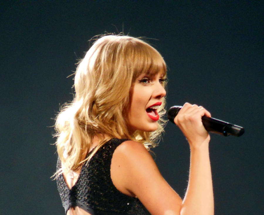 Taylor Swift performing during the Red Tour in St. Louis on March 19, 2013.