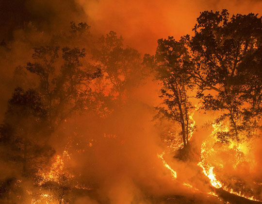 Wildfires threatened many towns during August after fires were sparked by thunderstorms.