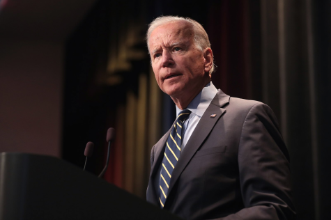 Joe Biden speaking at the 2019 Iowa Federation of Labor Convention on August 21, 2019.