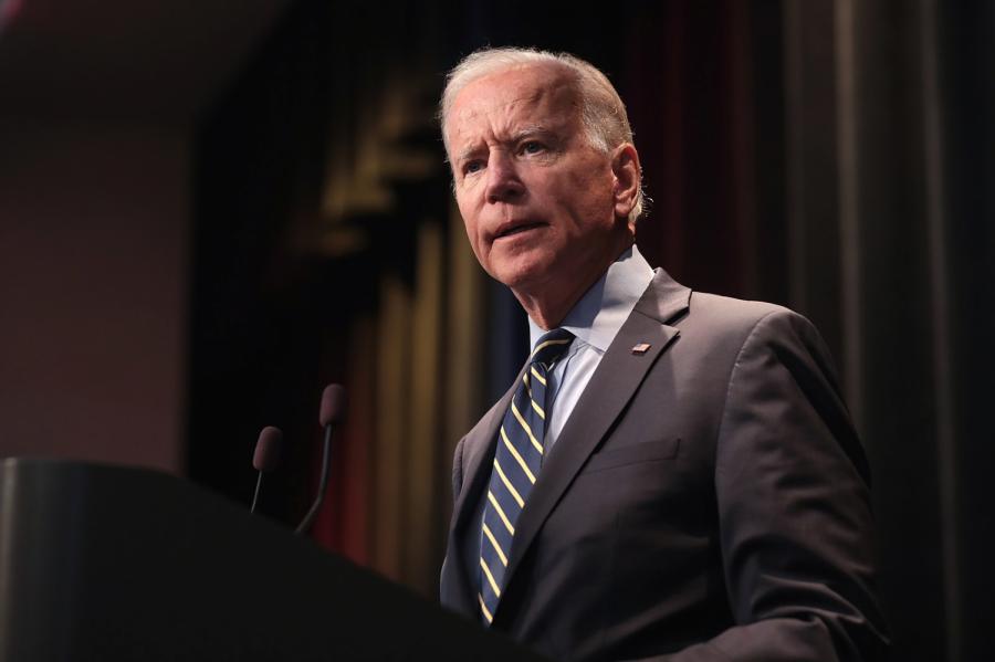 Joe Biden speaking at the 2019 Iowa Federation of Labor Convention on August 21, 2019.