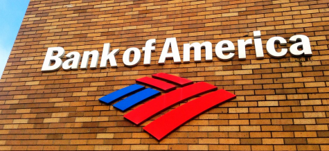 A photo of the Bank of America logo.