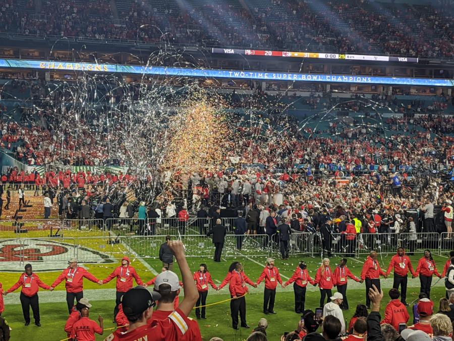 After+winning+Super+Bowl+LIV%2C+the+Kansas+City+Chiefs+celebrate.