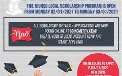 Flyer for the RJUHSD scholarship program.