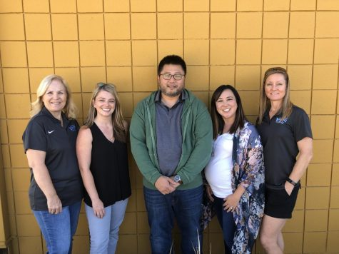 OHS counselors pictured left to right: Lorri Perkins, Bethany Olander, Albert Lee, Lisa Prasad, Gina Coiner-Lacoste