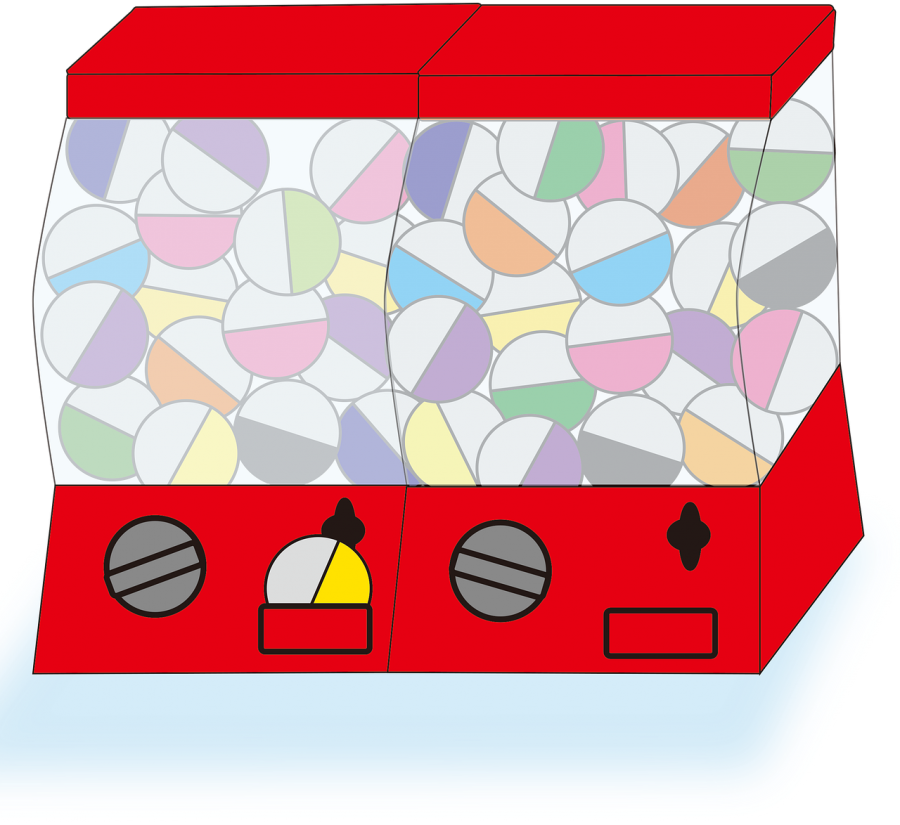 An example as to what the Gacha mechanic might look like in a game. This one is similar to a gumball machine.