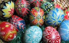 Pysanky Easter eggs, from Wikipedia Commons