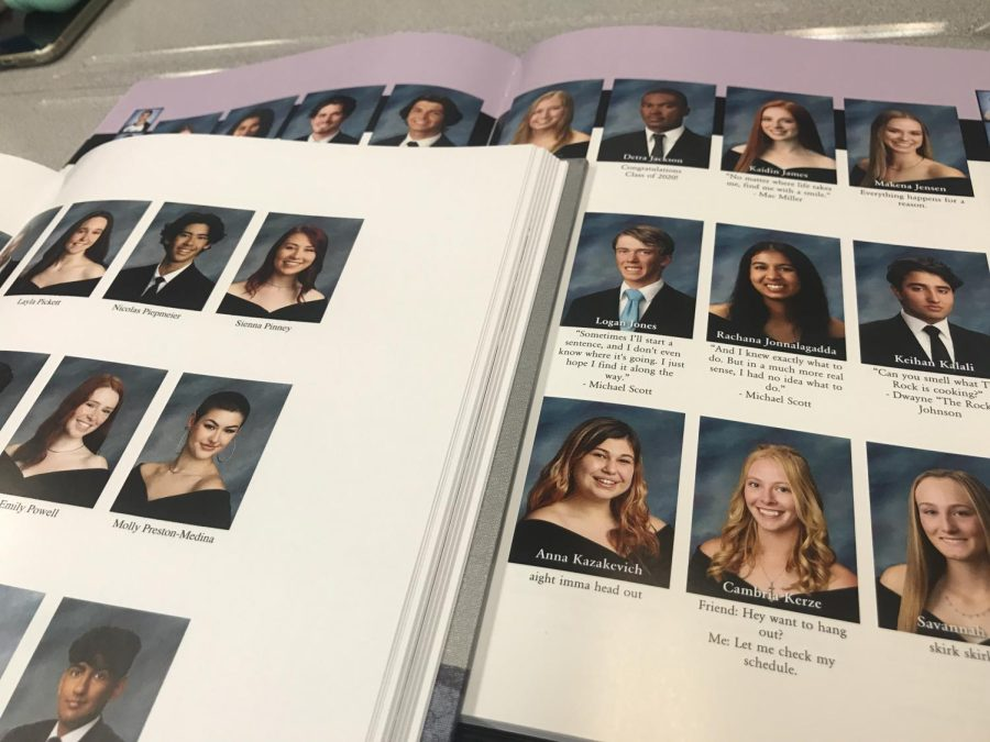 The+2020+Oakmont+yearbook+%28on+top%29+and+the+Oakmont+2019+yearbook+%28on+bottom%29%0A