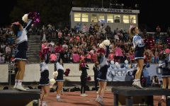 Oakmont's student section and cheer team prepare for their Homecoming game